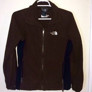 THE NORTH FACE Brown Fleece Zipup Sweater